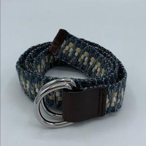 Eddie Bauer woven fabric adjustable belt #20C